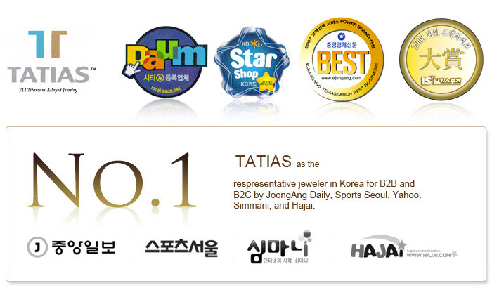 TATIAS has been selected as the respresentative jeweler in Korea for B2B and B2C by JoongAng Daily, Sports Seoul, Yahoo, Simmani, and Hajai.
