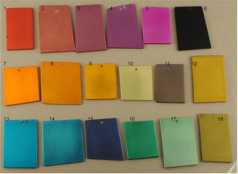 Color anodizing sample