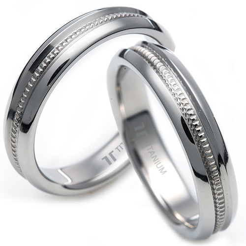 T-238 CO - TATIAS, Titanium Couple Ring