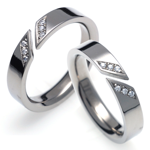 T-731 CO - TATIAS, Titanium Couple Ring