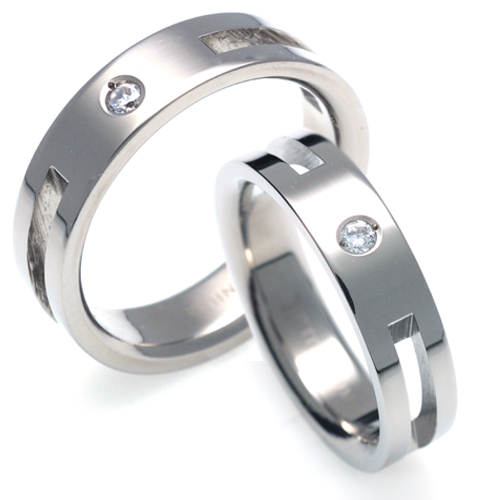 T-328 CO - TATIAS, Titanium Couple Ring
