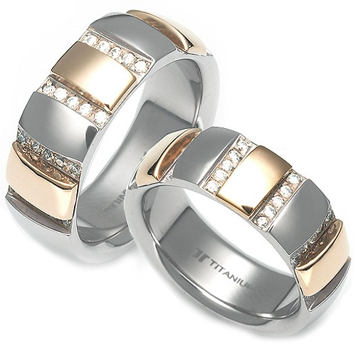 T-963 CO - TATIAS, Titanium Couple Ring