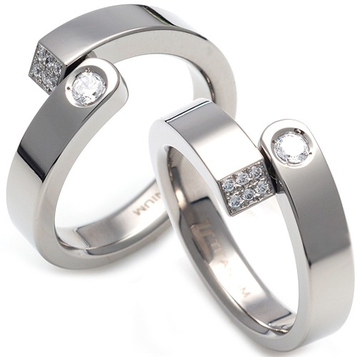 T-078 CO - TATIAS, Titanium Couple Ring