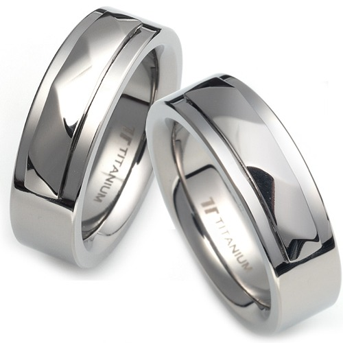 T-807 CO - TATIAS, Titanium Couple Ring