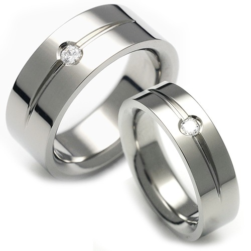 T-711 CO - TATIAS, Titanium Couple Ring