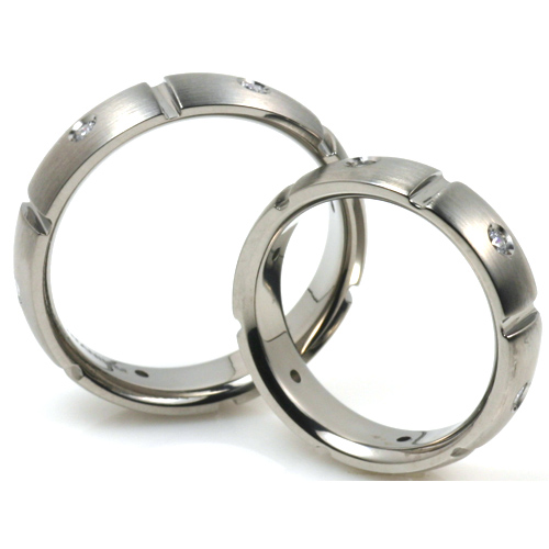 T-913 CE - TATIAS, Titanium Couple Ring
