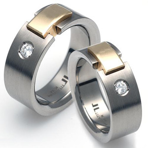 T-903 DIA CE - TATIAS, Titanium Couple Ring