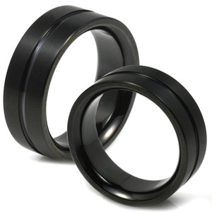 T-116 CO - TATIAS, Black Titanium Couple Ring
