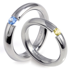 T-388 CO - TATIAS, Titanium Couple Ring