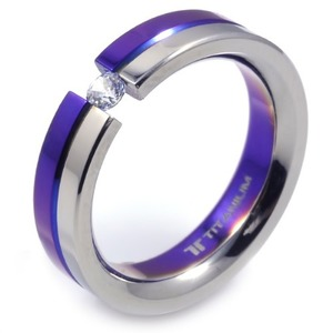 T-228 DIA - TATIAS, Titanium Ring set with Diamonds