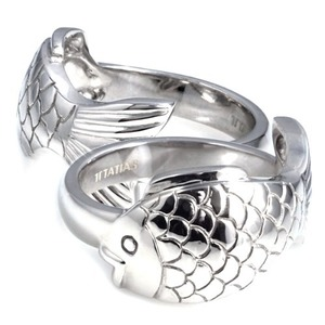 SR-419 CO (Peter Fish Silver Couple Ring Special Edition) - TATIAS, Peter Fish Silver Couple Ring