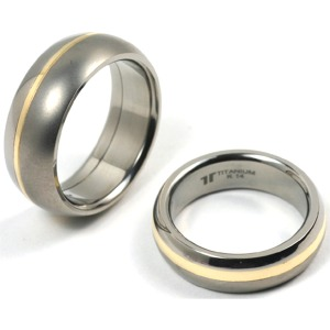 T-511 CE - TATIAS, Titanium Couple Ring