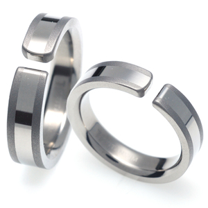 TQ-208 CO - TATIAS, Titanium Couple Ring