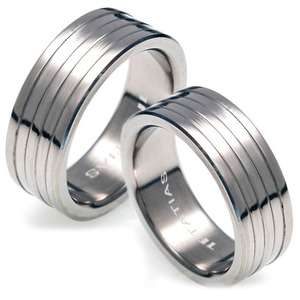 T-098 CO - TATIAS, Titanium Couple Ring