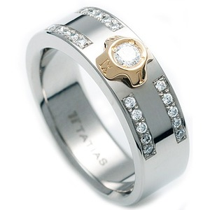 TW-633 DIA - TATIAS, Titanium Ring set with Diamonds