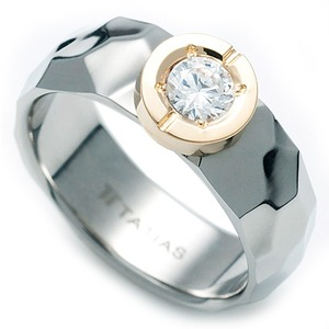 T-538 DIA - TATIAS, Titanium Ring set with Diamonds