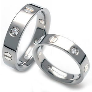 TS-039 CO - TATIAS, Titanium Couple Ring