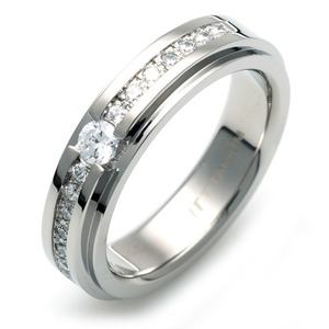 TW-981 DIA - TATIAS, Titanium Ring set with Diamonds