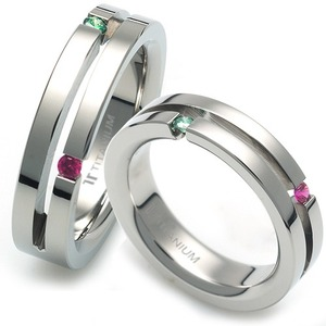 T-986 CO - TATIAS, Titanium Couple Ring
