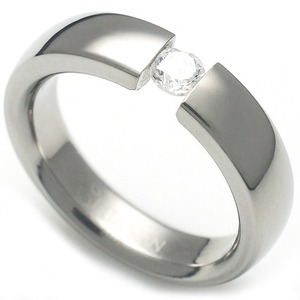 TW-007 DIA - TATIAS, Titanium Ring set with Diamonds