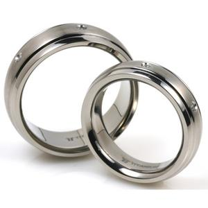 T-918 CE - TATIAS, Titanium Couple Ring