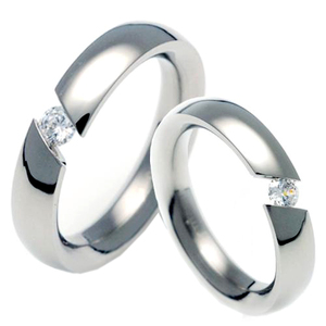T-729 CO - TATIAS, Titanium Couple Ring