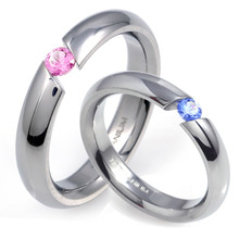 T-389 DIA CO - TATIAS, Titanium Couple Ring