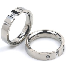 T-720 DIA CO - TATIAS, Titanium Couple Ring