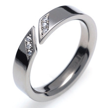 T-731 DIA - TATIAS, Titanium Ring set with Diamonds