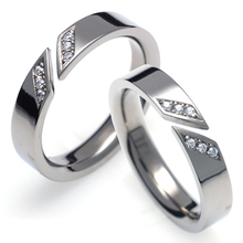T-731 DIA CO - TATIAS, Titanium Couple Ring