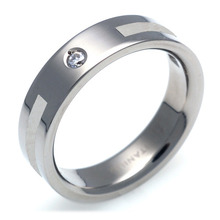 T-328 DIA - TATIAS, Titanium Ring set with Diamonds