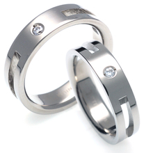T-328 DIA CO - TATIAS, Titanium Couple Ring