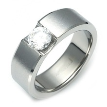 TW-053 DIA - TATIAS, Titanium Ring set with Diamonds