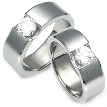 TW-053 DIA CO - TATIAS, Titanium Couple Ring