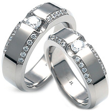TW-058 DIA CO - TATIAS, Titanium Couple Ring