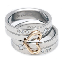 T-537 DIA - TATIAS, Titanium Ring set with Diamonds