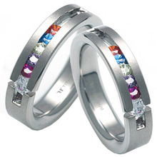 T-285 DIA CO - TATIAS, Titanium Couple Ring