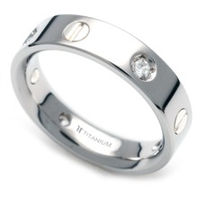 TS-039 DIA - TATIAS, Titanium Ring set with Diamonds