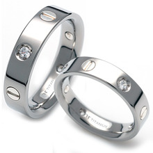 TS-039 DIA CO - TATIAS, Titanium Couple Ring