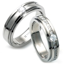 TW-980 TW-981 DIA CO - TATIAS, Titanium Couple Ring