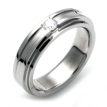 TW-980 DIA - TATIAS, Titanium Ring set with Diamonds