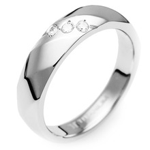 T-392 DIA - TATIAS, Titanium Ring set with Diamonds