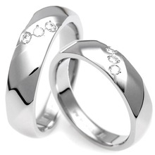T-392 DIA CO - TATIAS, Titanium Couple Ring
