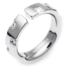T-378 DIA - TATIAS, Titanium Ring set with Diamonds