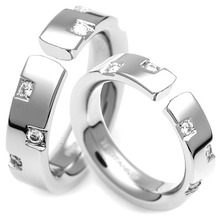 T-378 DIA CO - TATIAS, Titanium Couple Ring