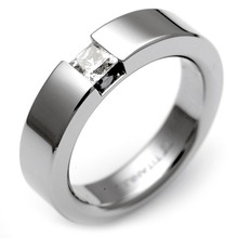 T-365 DIA - TATIAS, Titanium Ring set with Diamonds