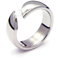 TQ-203 DIA - TATIAS, Titanium Ring set with Diamonds