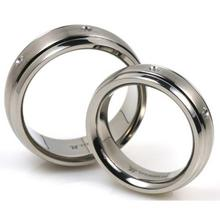 T-918 DIA CO - TATIAS, Titanium Couple Ring