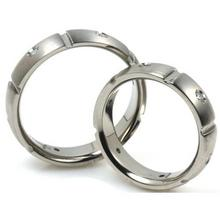 T-913 DIA CO - TATIAS, Titanium Couple Ring