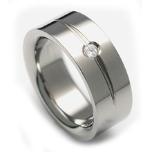 T-711 DIA - TATIAS, Titanium Ring set with Diamonds